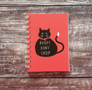 Adopt Don't Shop - Pink A6 Notebooks