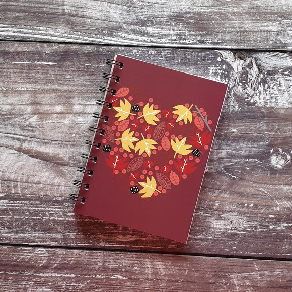 Autumn Heart - Plum Notebooks