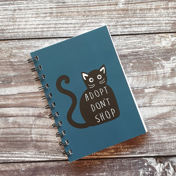 Adopt Don't Shop - Blue Notebooks