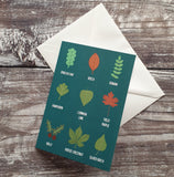 Leaf Identification Notelet Greeting Card