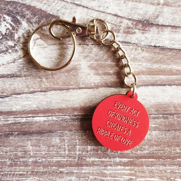 Every Act of Kindness Wooden Keyring