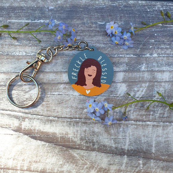 Freckle Blessed Wooden Keyring