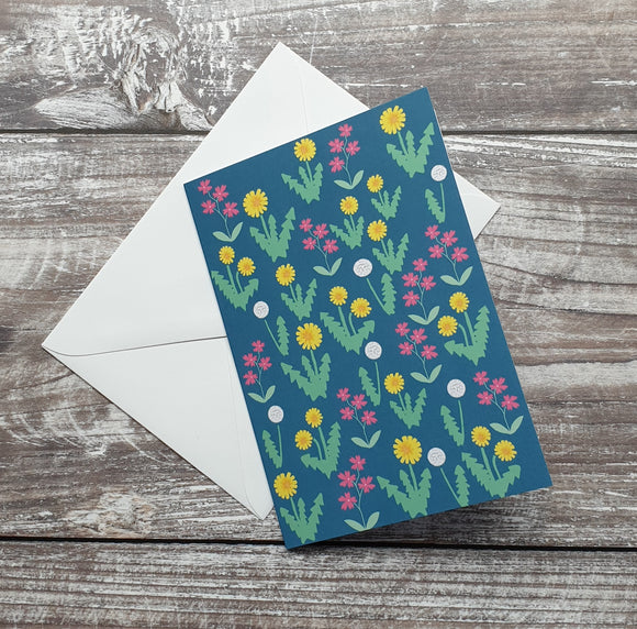 Dandelion Meadow Greeting Card