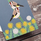 Goldfinches Notelet Greeting Card