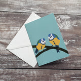 Bluetits Notelet Greeting Card