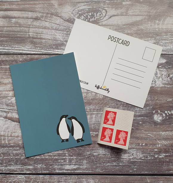 Adelie Penguins  Postcard