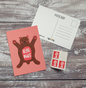 Bear Hugs Postcard