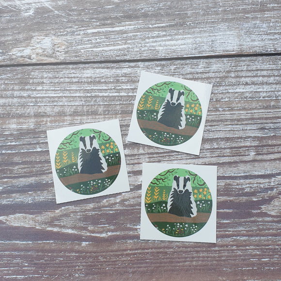 Badger 38mm Vinyl Sticker