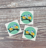 Bluetits 38mm Vinyl Sticker