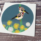 Goldfinches 38mm Vinyl Sticker
