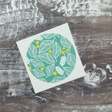 Beech Leaves and Berries 38mm Vinyl Sticker