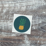 Pilea 38mm Vinyl Sticker