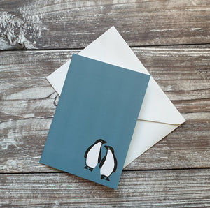 Adelie Penguin Pair Greeting Card