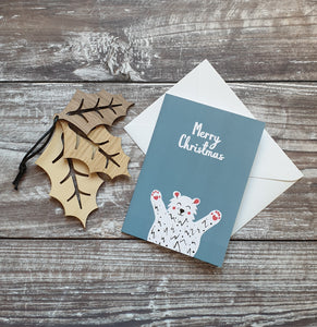 Polar Bear Christmas Card