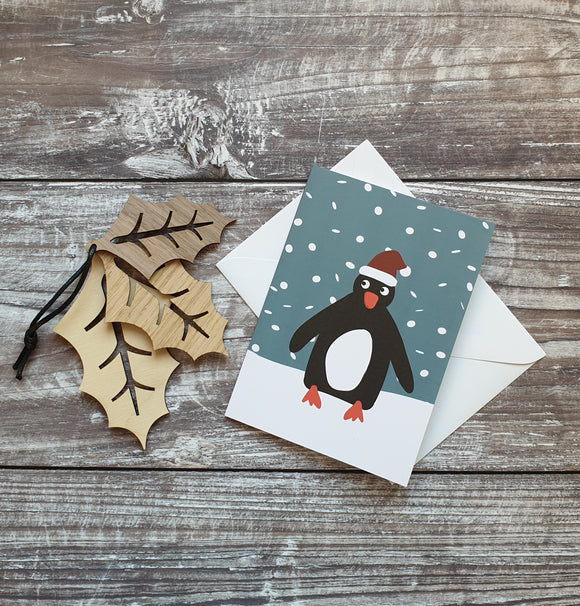 Christmas Hat Penguin Christmas Card