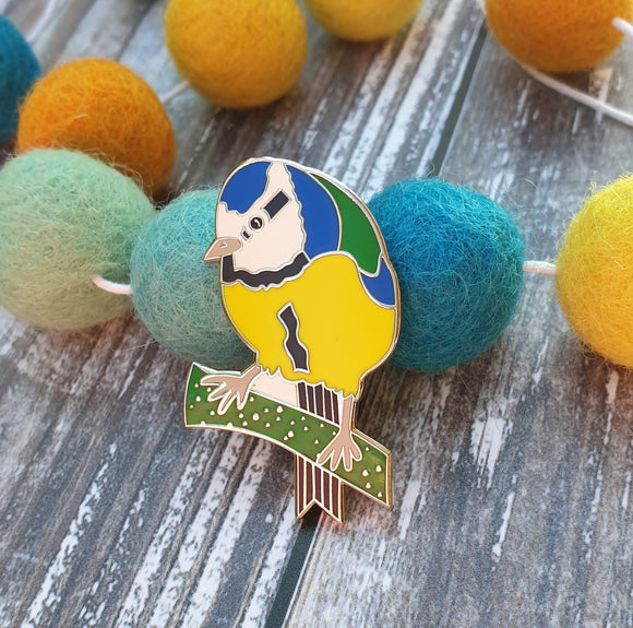 Bluetit hard enamel pin