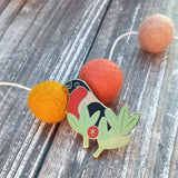 Bullfinch hard enamel pin