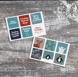 Christmas Envelope Sticker Sheets