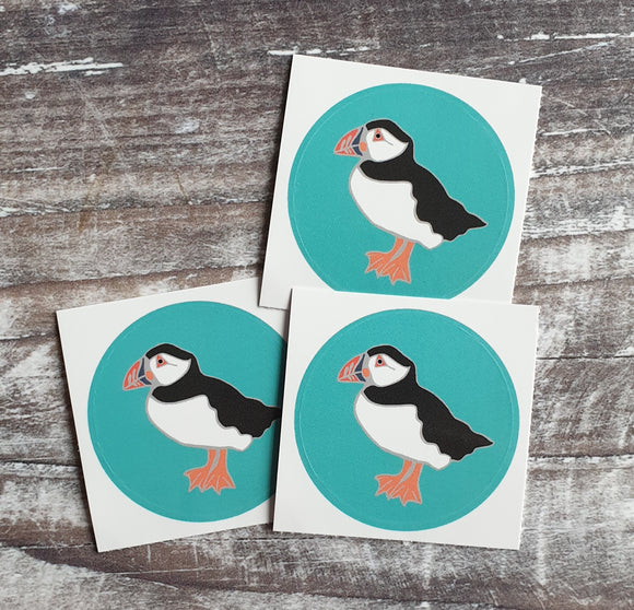 Standing Puffin 38mm Vinyl Sticker