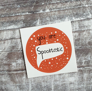 Spooktastic 38mm Vinyl Sticker