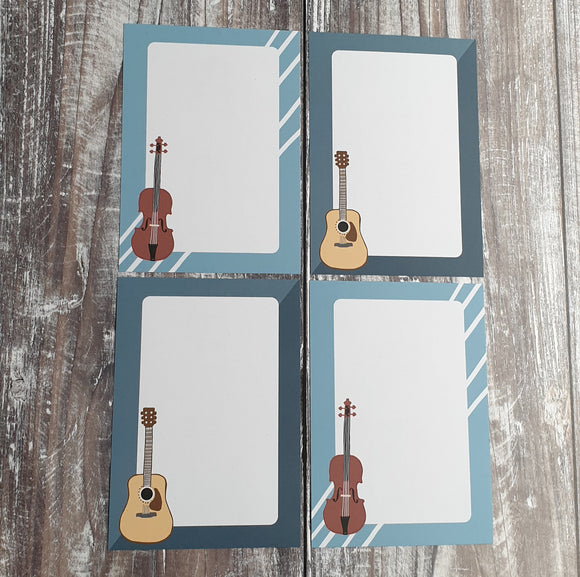 Music Gift Note - Set of 4