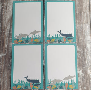 Cetaceans Gift Note - Set of 4
