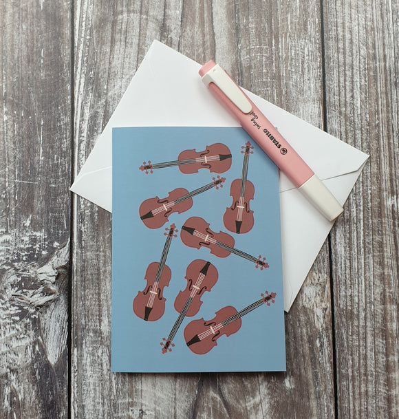 Massed Violins Greeting Card