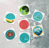 Positive Message Sticker Set - 7 Stickers