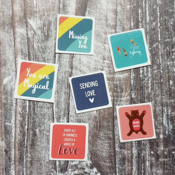 Positive messages Envelope Sticker Set