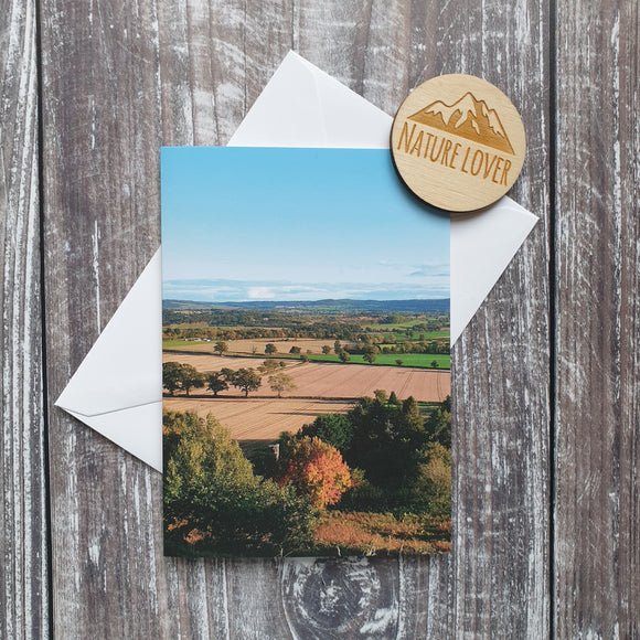 Autumn at Lyth Hill Photographic Greeting Card