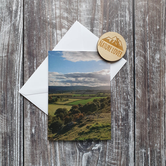 Rolling fields photographic card