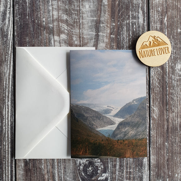 Jostedalsbreen Glacial Valley Photographic Greeting Card