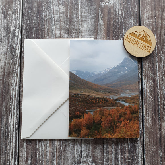 Norwegian Autumn Photographic Greeting Card