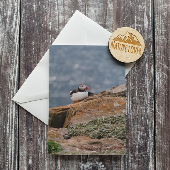 Puffin Photographic Greeting Card