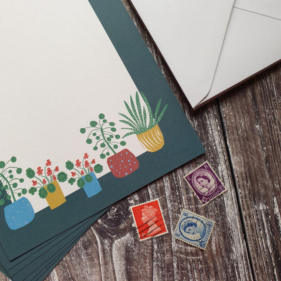 Houseplants Writing Paper Set