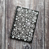 Fossil Beach - Black Notebook
