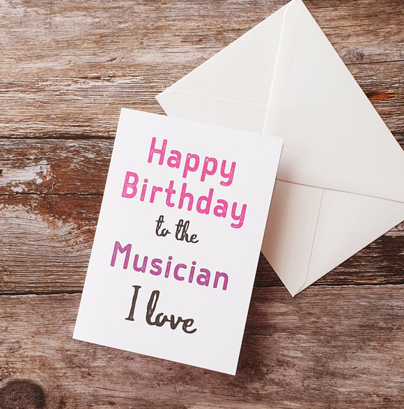 Happy Birthday Musician Greeting Card