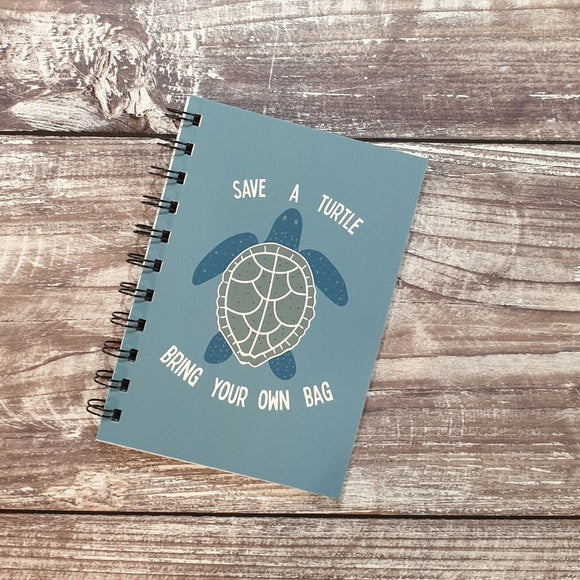 Save A Turtle, Bring Your Own Bag Notebooks