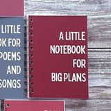 A Little Notebook for Big Plans