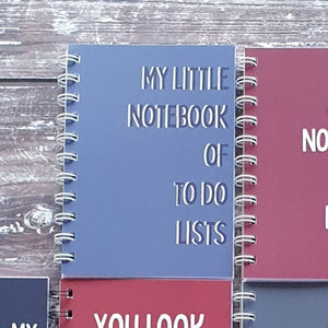 My Little Notebook for To Do Lists