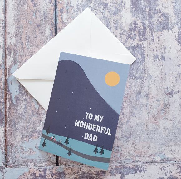 Dad Bike Riding Greeting Card