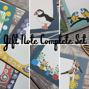 Complete Gift Note Set - Set of 34 sheets