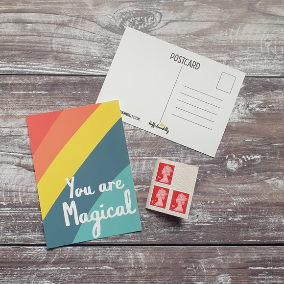 You are Magical Rainbow Postcard