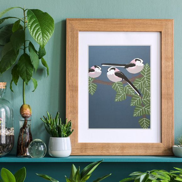 Long Tailed Tits Art Print