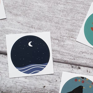 Stars 38mm Vinyl Sticker
