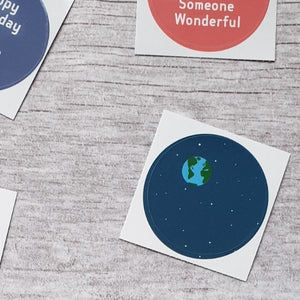 Blue Planet 38mm Vinyl Sticker