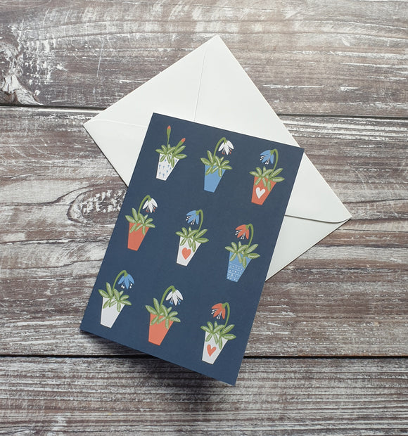 Potted Plants Greeting Card