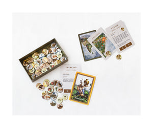 The Event tokens box with tokens and samples of Event cards and Ability cards from the board game Bharata 600 BC