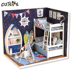 Doll house furniture miniatura diy doll houses miniature dollhouse wooden handmade toys for children birthday gift  H011