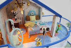 Doll House Miniature DIY Dollhouse With Furnitures Wooden House Countryard Dweling Toys For Children Birthday Gift